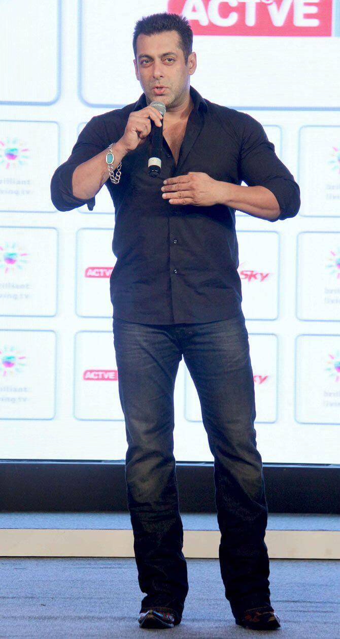 Salman Khan Holding a mic in his hand