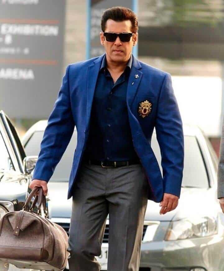 Salman Khan Walking in a Blue Suit