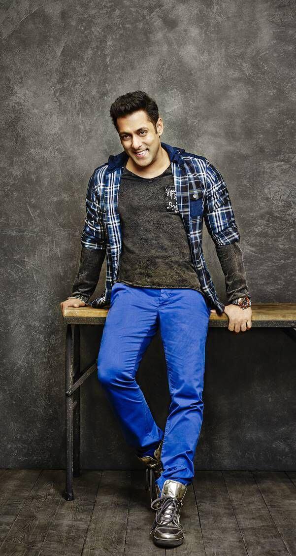 Salman Khan Standing In a Blue Trouser